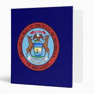 Michigan Great Seal 3 Ring Binder