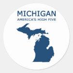 Michigan H5 Pegatina Redonda