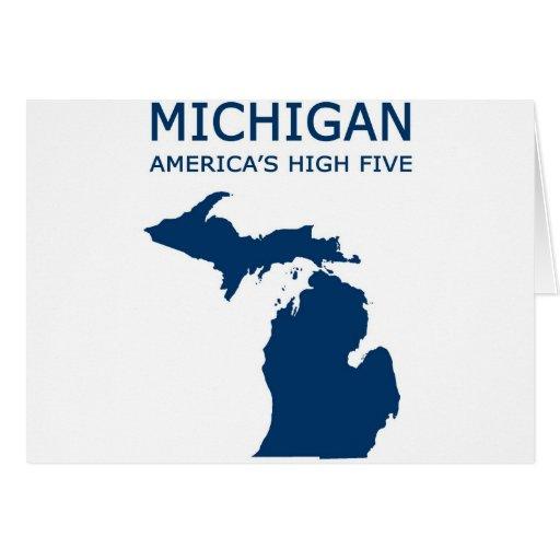 Michigan H5 Tarjeta De Felicitación