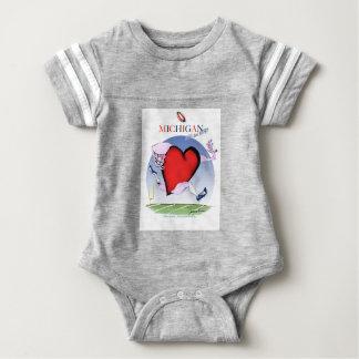 michigan head heart, tony fernandes baby bodysuit