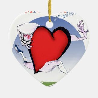 michigan head heart, tony fernandes ceramic ornament