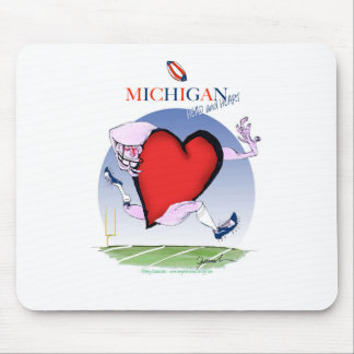 michigan head heart, tony fernandes mouse pad