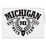 Michigan, Heck Yeah, Est. 1837 Greeting Card