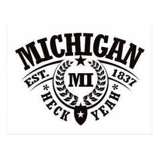 Michigan, Heck Yeah, Est. 1837 Postcard