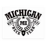 Michigan, Heck Yeah, Est. 1837 Postcards