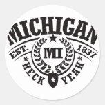 Michigan, Heck Yeah, Est. 1837 Sticker
