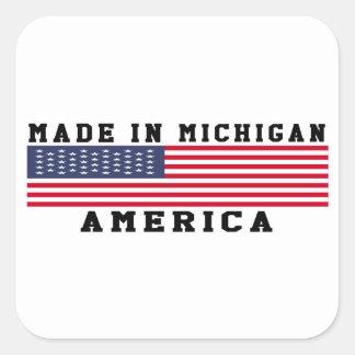 Michigan hizo en diseños pegatina cuadrada
