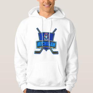 Michigan Hockey Logo Shield Hooded Sweatshirt