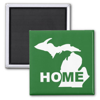 Michigan Home Away From State Fridge Magnet