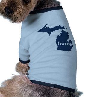 Michigan Home Doggie Tee Shirt
