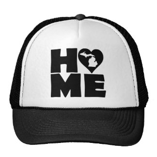 Michigan Home Heart State Ball Cap Trucker Hat