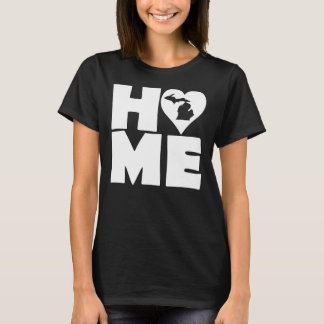 Michigan Home Heart State T-Shirt Tees