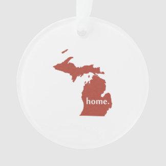 Michigan home silhouette state map