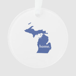 Michigan home silhouette state map ornament