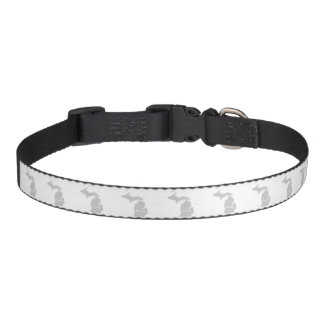 Michigan home silhouette state map pet collar