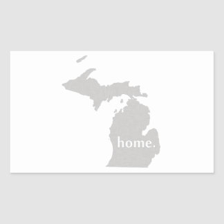 Michigan home silhouette state map rectangular sticker