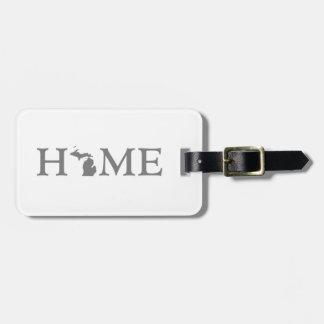 Michigan Home State Bag Tag