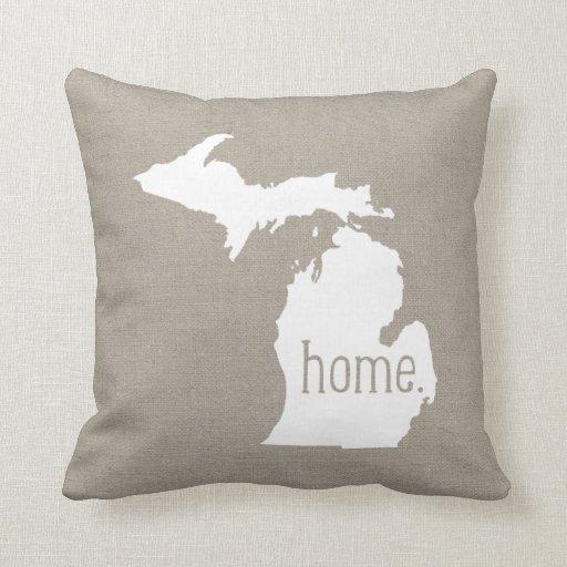Michigan Home State Throw Pillow Zazzle