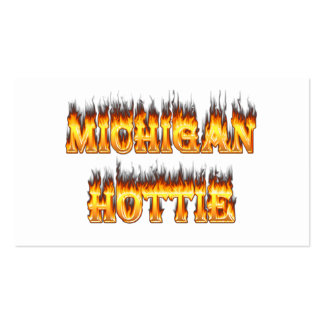 Michigan hottie fire and flames business cards