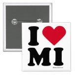 "MICHIGAN -""I LOVE MI"" / ""I LOVE MICHIGAN"" / MICHIG PINBACK BUTTON"