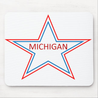 Michigan in a star. mouse pad
