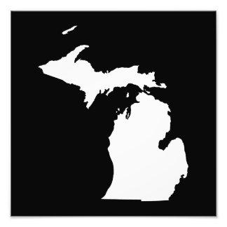 Michigan in White and Black Photo Print