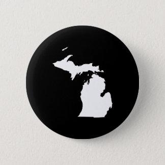 Michigan in White and Black Pinback Button