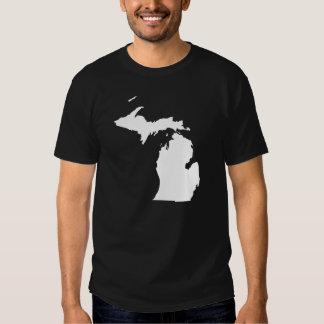Michigan in White and Black T Shirt