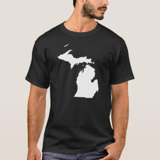 Michigan in White and Black T-Shirt