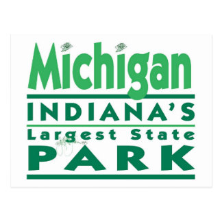 Michigan Indiana's Largest State Park Postcard