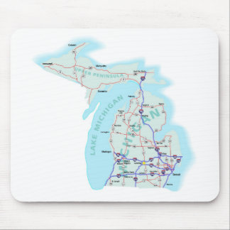 Michigan Interstate Map Mousepad