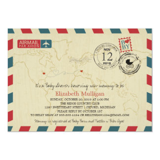 MICHIGAN / ITALY Airmail | Baby Shower Card