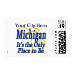 Michigan  It's the Only Place to Be Postage Stamps