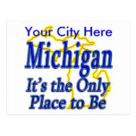 Michigan  It's the Only Place to Be Postcard