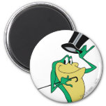 Michigan J. Frog in Color 2 Inch Round Magnet