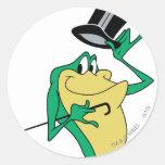 Michigan J. Frog in Color Classic Round Sticker