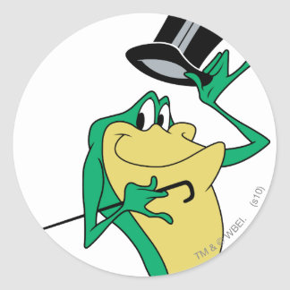 Michigan J. Frog in Color Classic Round Sticker