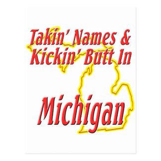 Michigan - Kickin' Butt Postcard