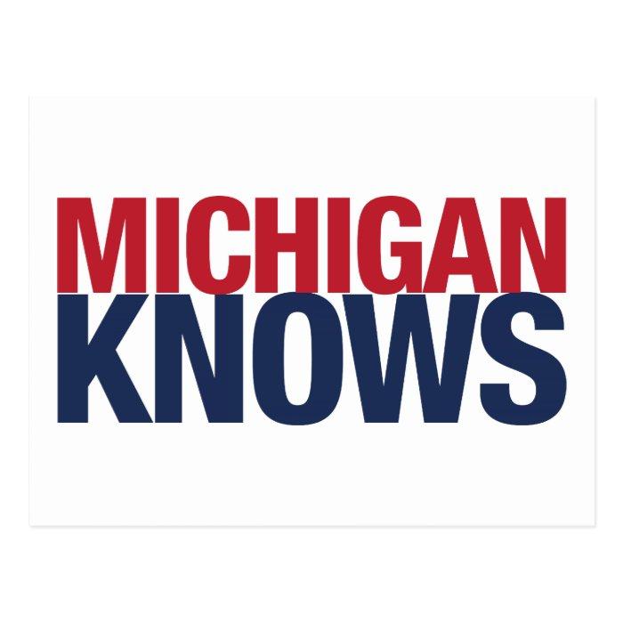 Michigan Knows Postcard