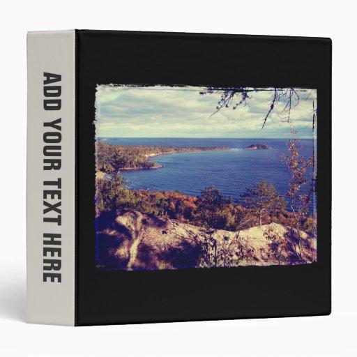 Michigan Lake Superior Scene Vinyl Binder