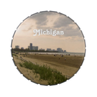 Michigan Landscape Jelly Belly Candy Tin