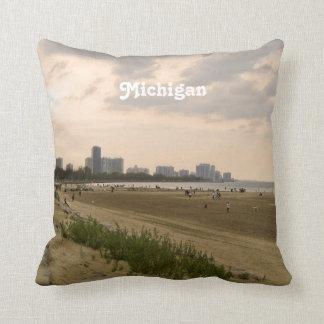Michigan Landscape Throw Pillow