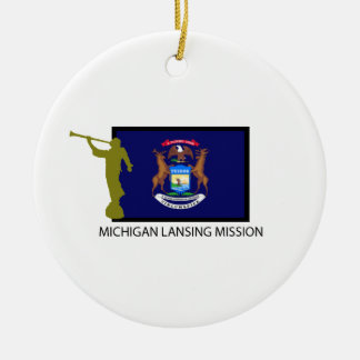 MICHIGAN LANSING MISSION LDS CTR CERAMIC ORNAMENT