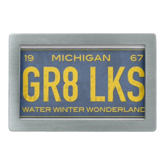 Michigan License Plate 1967 Belt Buckle