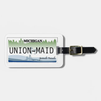 Michigan License Plate Luggage Tag 2-Sided