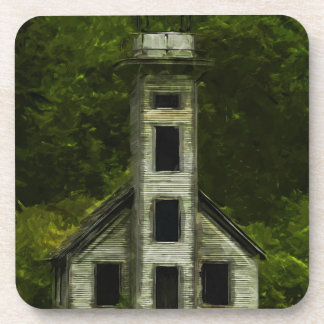 Michigan Lighthouse Abstract Impressionism Beverage Coaster