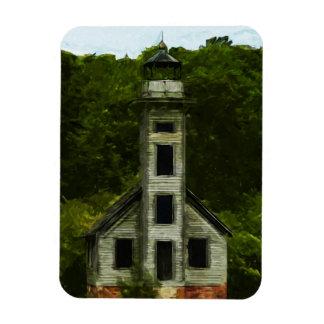 Michigan Lighthouse Abstract Impressionism Rectangular Photo Magnet