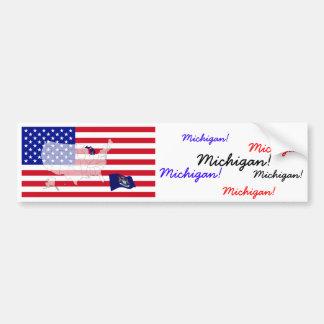 Michigan, los E.E.U.U. Pegatina Para Auto