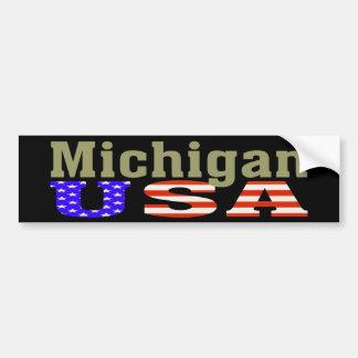 ¡Michigan los E.E.U.U.! Pegatina para el Pegatina Para Auto