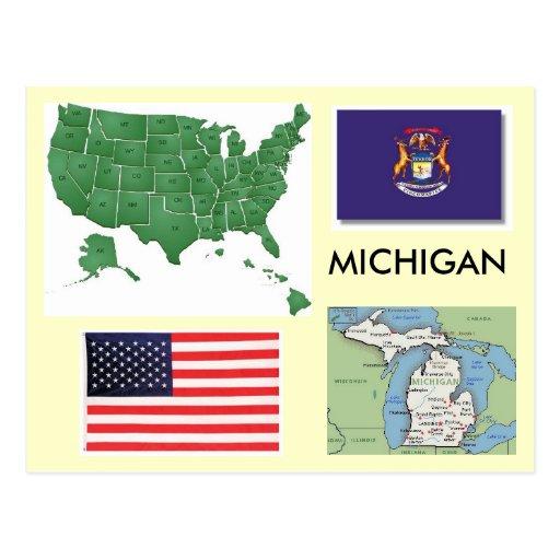 Michigan, los E.E.U.U. Postal